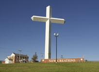 Giant cross at Indiana & Ohio border