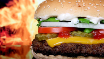 flame grilled burger