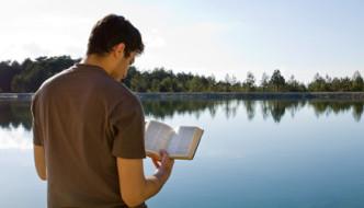 reading bible lake